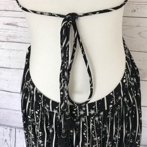 Free People Dresses - Free People Black White Halter Maxi Dress Small